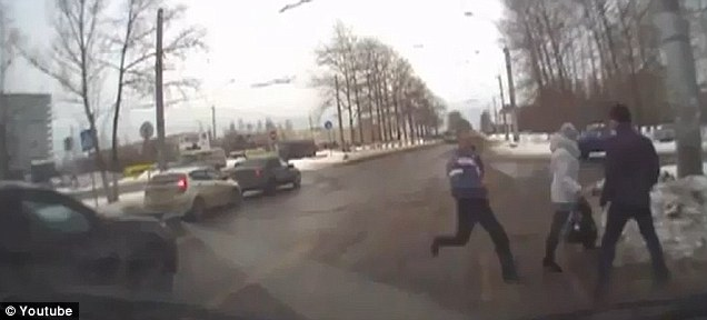Brutal: The man on the left can be seen running into the melee