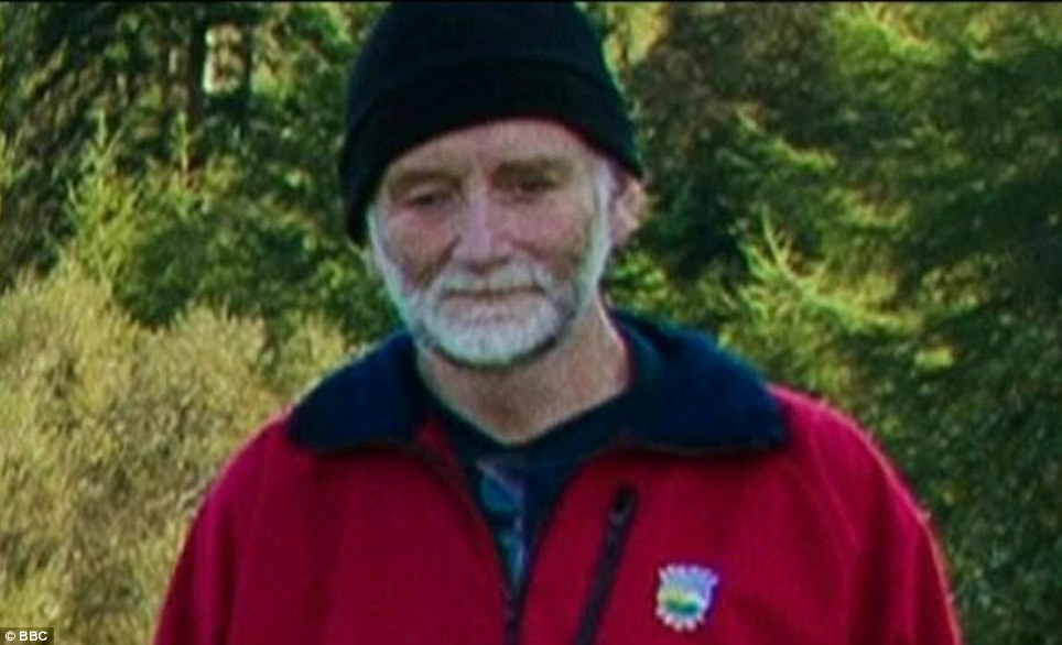Tragic deaths: Stephen Holding, 60, from Barlaston, near Stoke-on-Trent, Staffordshire, was described as a 'friendly', 'quiet' and 'private' man