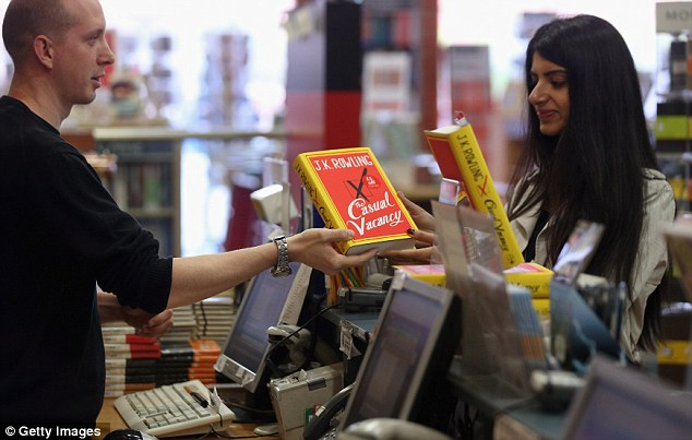 'The Casual Vacancy' went on sale on Thursday and is JK Rowling's first book aimed at an adult readership