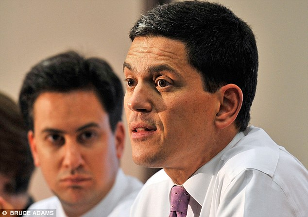 Supporters of Ed Miliband, left, and his elder brother David and divided over who is likely to lead the Labour party into the 2013