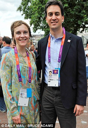 Ed Miliband, pictured with wife Justine this year