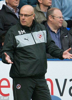 Robbed: Reading manager Brian McDermott
