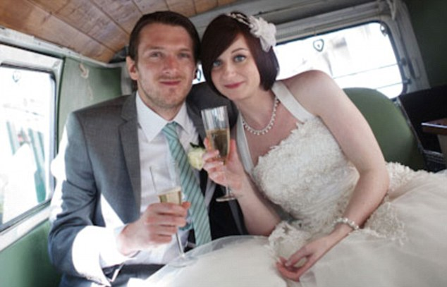 Beautiful bride: Emily Forrest, pictured with Jeremy on their wedding day, has maintained a dignified silence since her husband disappeared with the school pupil