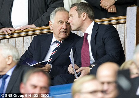 Cash battle: Rangers owner Charles Green (left) is taking on the administrators