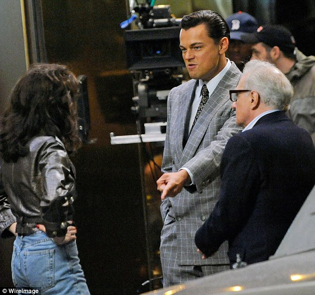 Give me angry: Director Martin Scorsese is seen in the midst of the action