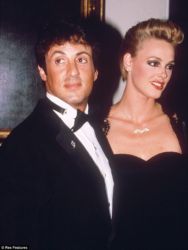 Fan of the action men: Nielsen was married to Sylvester Stallone from 1985-1987