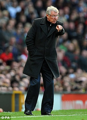 Never started: Alex Ferguson was frustrated by how his side started the game