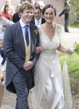 Thierry Kelaart with her new husband Patrick Heathcoat-Amory