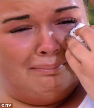 Sob sisters: Tulisa couldn't stop crying over Amy, who was also very upset she wasn't being taken through