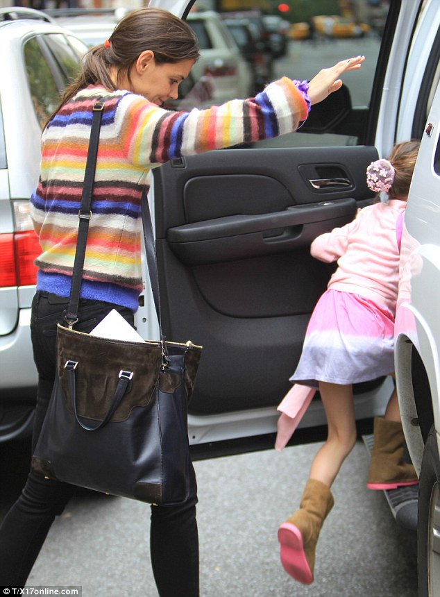 Home time: Suri and Katie made a mad dash to the car and straight home following the class