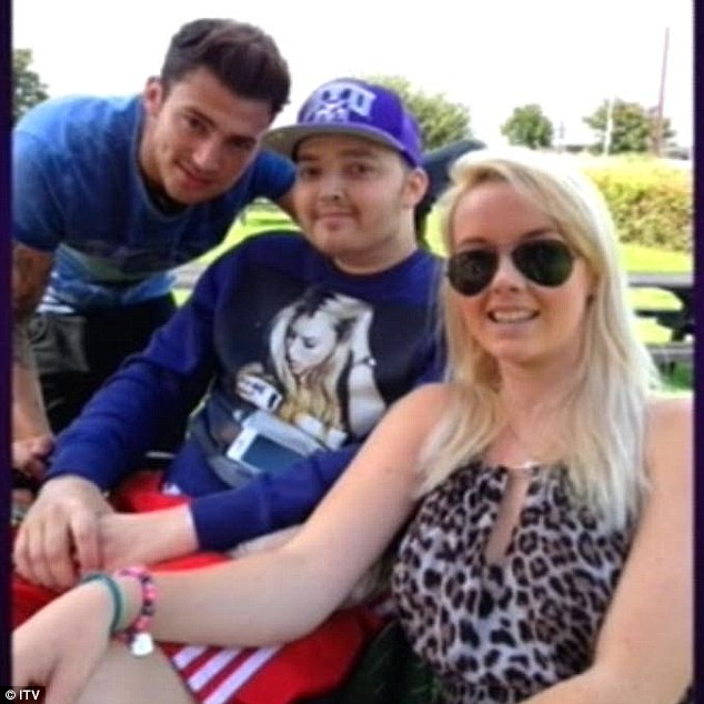 Grieving: A photo of Jake with his brother Oliver and his wife Olivia