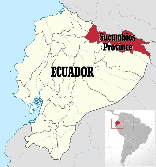 The women were snatched in Ecuador's Sucumbios Province: Local reports suggest a crime gang called the Black Eagles, consisting of ex-paramilitaries, might be behind the abduction