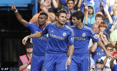LA calling? Frank Lampard (centre) could leave