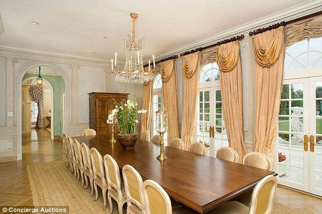 Dine: Once listed for $21million, the estate was slahsed to just $13million before being sent to the auction block for the highest bidder