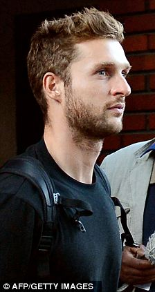 The goalkeeper Michael Robin, one of the Montpellier's handball players who have been rocked by allegations of match-fixing