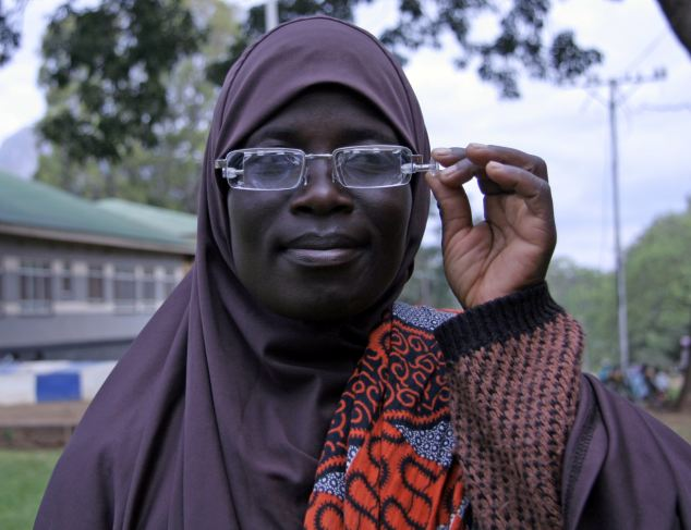 The glasses are already being trialled in Malawi as a low cost way to improve people's sight.