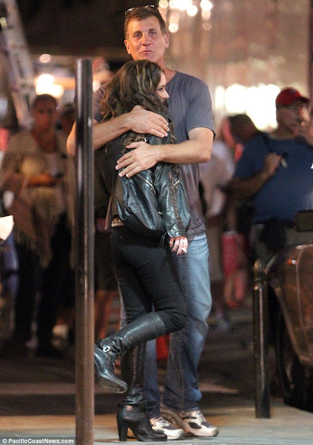 Big hug: She received a squeeze from director Gary Fleder