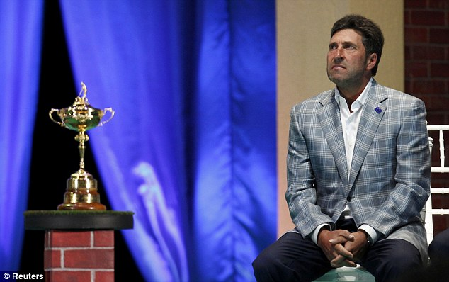 Pure emotion: Olazabal remembers his great friend Seve Ballesteros during the closing ceremony