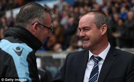 Mixed feelings: Villa manager Paul Lambert and West Brom boss Steve Clarke