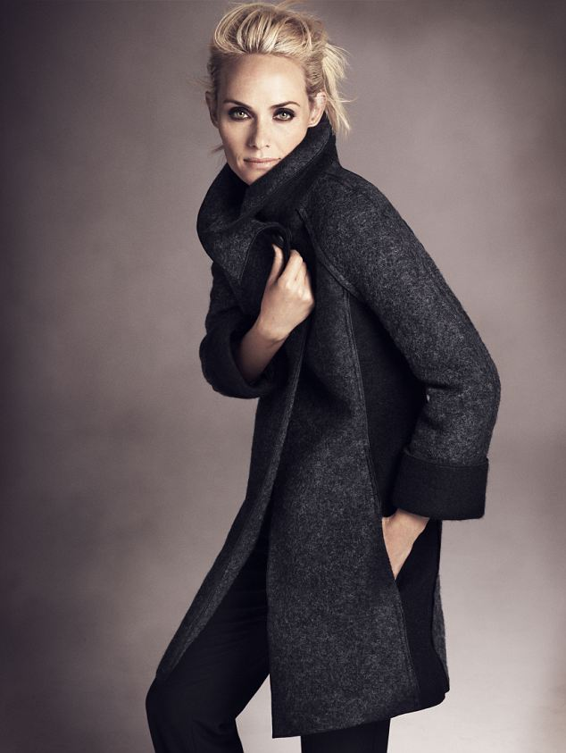 The per una grey Boiled Wool Coat £89 is an instant winter wardrobe update