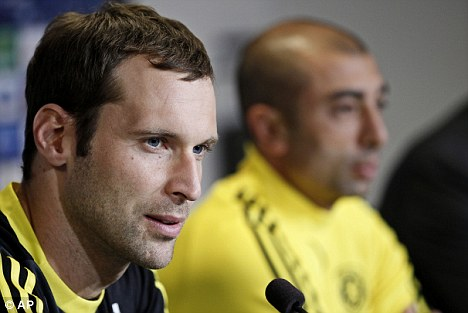 Confident mood: Cech feels Chelsea will get a result in Denmark