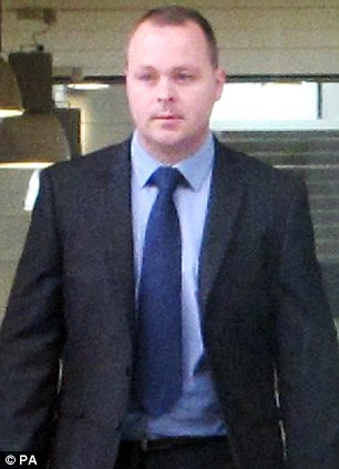 Pc Ian Thompson, 31,  leaves Ipswich Crown Court