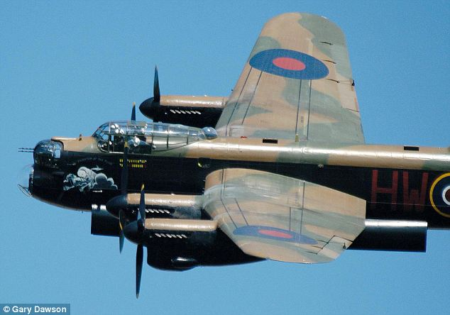Tough stuff: Archive photo of PA474 Avro Lancaster Bomber, similar to the one the winner will be travelling in