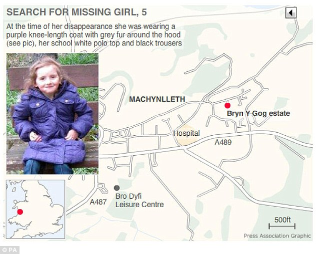 Graphic maps the search for missing April Jones