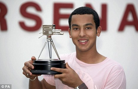 Silverware: It references Walcott's Young Sports Personality of the Year award in 2006
