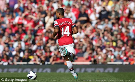 Turning his back? Theo Walcott is yet to sign a new deal with Arsenal