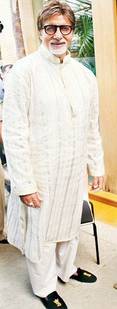 Mega Star Amitabh Bachchan shows off his loafers