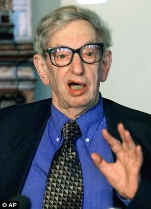Death: Eric Hobsbawm once described himself as an 'unrepentant communist' and was a towering figure on the British Left  for decades