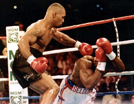 Big hit: Former heavyweight champion Tyson