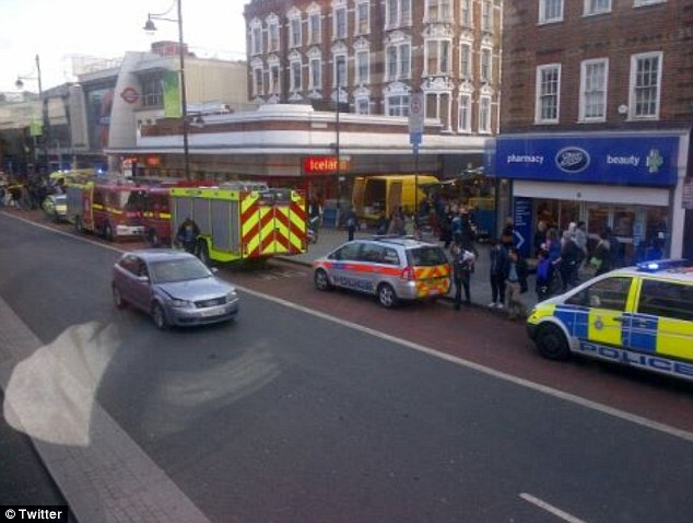 Shocked: Many witnesses described their horror after the 12-year-old was hit by the tube
