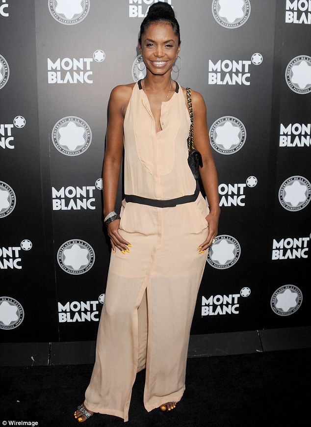 Looking good: Model Kim Porter strikes a pose at the Chateau Marmont hotel on Tuesday