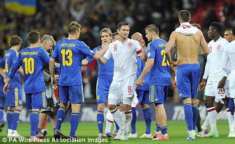 Setback: England were held to a 1-1 draw with Ukraine last time out