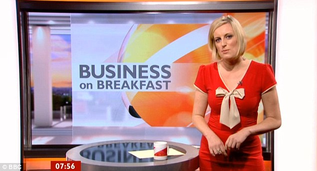 Caught out: Business reporter Steph McGovern can be heard making the on air gaffe after finishing her slot