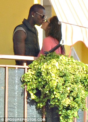 Different scenarios: The pair looked much happier on the balcony than they did when they were talking