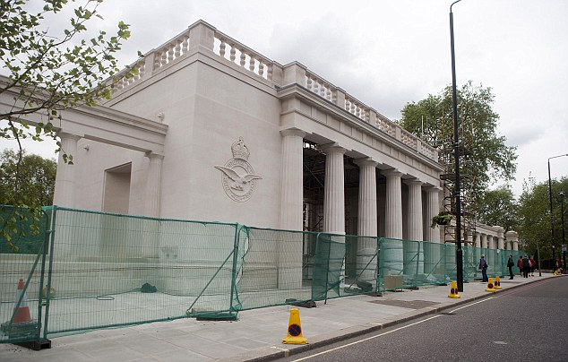 Under construction: The trustees of the Bomber Command Association could justly reflect that they had done their bit by raising the £6.5 million to build the memorial