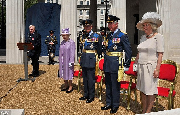 The sun shone on Green Park as the Queen, the Duke of Edinburgh and Prince Charles embraced the occasion