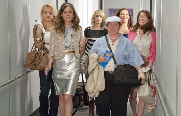 Price of love: The email insists all bridesmaids attend expensive events including a bachelorette party in Vegas, much like in the popular comedy, pictured
