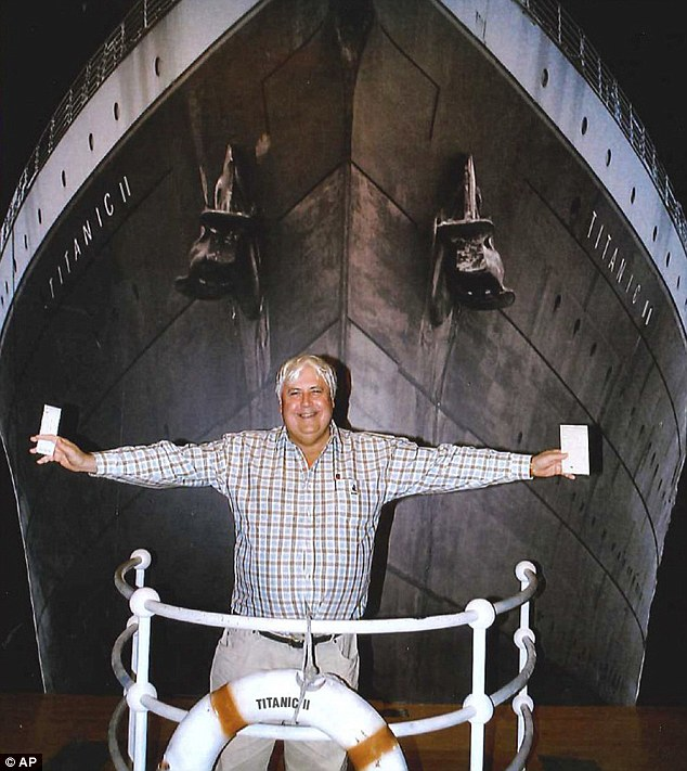 A domed venture? Australian billionaire businessman Clive Palmer will unveil plans for Titanic ll at a gala dinner in New York in December