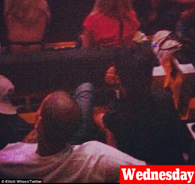 Back on then? Rihanna and Chris spent their third consecutive night together as they attended the Jay-Z concert in New York on Wednesday