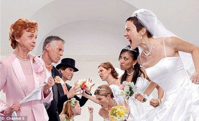 Chaos: Bridesmaids are warned in the email to  inform the bride of any holidays and to reply to all messages within two days or lose their part in the day. Pictured, TV show Bridezillas