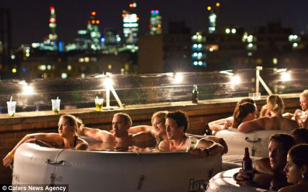 London movie fans relax and enjoy their favourite films at Hot Tub Cinema