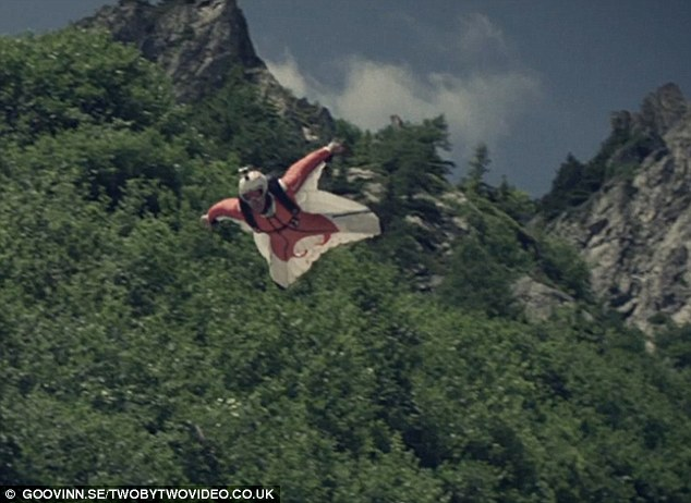 Birdman: Wingsuit world champion Espen Fadnes takes to the skies above Chamoix, France, in an incredible new video