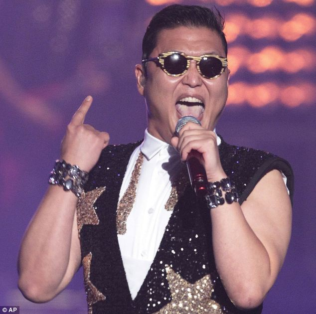 Success: South Korean rapper Psy, who sings the popular Gangnam Style song, performs  during his concert in Seoul earlier this week