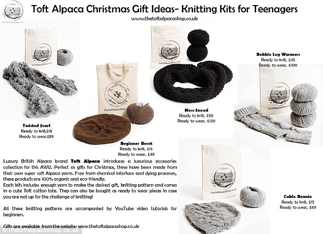 Christmas knitting gift ideas for teenagers.