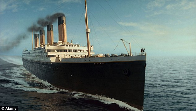 The Titanic as depicted in the 1997 film of the same name. Mr Palmer extended an invitation to the director James Cameron to sail on the new ship's maiden voyage