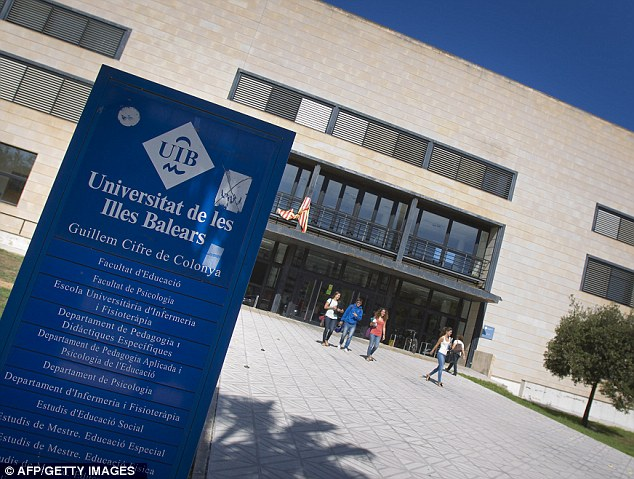 Spanish police have arrested a Columbine copycat that planned to carry out a massacre at the University of the Balearic Islands (pictured)